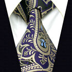 A30 Mens Ties Neckties Extra Long Size Blue Navy Paisley Silver Floral Fashion