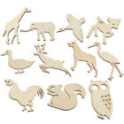 6 Pcs DIY Products Embellishment Animals Creative Wooden Crafts Scrapbooking