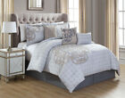 11 Piece North Gray/Taupe Bed in a Bag w/500TC Cotton Sheet Set