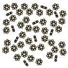Brass Oxide Finish Pewter Daisy Spacer Beads 3mm (50)