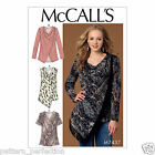 McCall's 7437 Sewing Pattern to MAKE Asymmetrical-Overlay Cowl-Neck Tops & Tunic