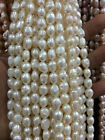 Wholesale 8-9MM multicolor irregular freshwater pearl loose beads 14""