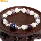 "Assorted Stone Energy Healing Jewelry Beaded Stretchy Bracelet 7""+ Free Gift Box"