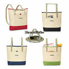 WOMENS 2 in 1 Foldable TOTE BAG & BACKPACK LARGE w/ Personalized Embroidery