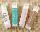 288 PERSONALIZED Coconut Scented Lip Balm Bridal Shower Wedding Favors