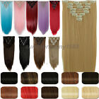 8pcs Real Thick Full head Clip in Hair Extensions 100% Natural Hair pieces su61