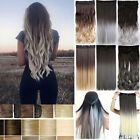 100% Natural 3/4 Full Head Clip In Ombre Hair Extension Real Thick as remy hair