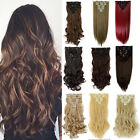 US Long Hairpiece Curly Wavy Heat Resistant Synthetic Natural Hair Extension SZ9