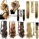Clearance Sale Clip in ponytail hair extensions Piece Curly/Wavy Straight lb76