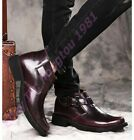 Mens Military Desert Ankle Boots Buckle Autumn Punk Motocycle Shoes Cuban Heel
