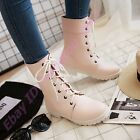 British Ladies New Strappy Ankle/Mid Calf Boots Preppy Style Shoes Fashion Flats