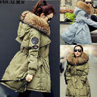 Women Winter Down Coat Real Fur Collar Waist Lace-up Warm Jacket Parka Outwear