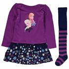 Character Kids Dress and Tights Set Infant Girls Skirt Long Sleeve Crew Neck Top