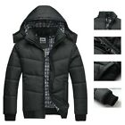 Men Warm Hoodie Jacket Slim Cotton Thick Parka Casual Outwear Winter Down Coat