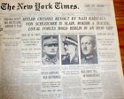 7BEST 1934 NY Times newspapers HITLER KILLS RIVALS in Night of the Long Knives
