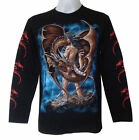 DARK DRAGON GRIM BIKER MENS L/S T-SHIRT