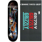 """ENJOI Skateboard Deck SNACK SURFERS BERRY 8.0"""" with GRIZZLY GRIPTAPE"""