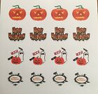 Happy Halloween & Treat or Trick mixed sheet a of 24 round stickers