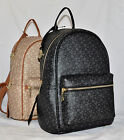 $225 DKNY Heritage Coated Logo Signature Backpack Bag Purse Sac Black Khaki New