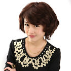 Women Soft Short Wave 100% Human Hair Wigs Side Parted Design 160g