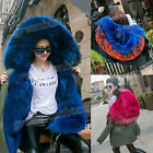 High-Quality Women's Winter Thicken Coat Hooded Real Fox Fur Collar Warm Jacket