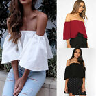 Simplee Apparel Women Summer Beach Off Shoulder Ruffles Shirt Tube Top  Blouse