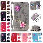 For Samsung iPhone LG Huawei Perfect Card Wallet Leather Case Cover+2 Gift Strap