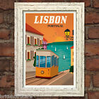 LISBON VINTAGE RETRO TRAVEL Poster Nostalgic Home Art Print Wall Decor #47