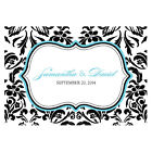 love bird chocolates - 24pk Personalized Love Bird Damask Large Rectangular Tags Wedding Favors