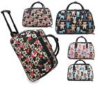 GIRLS MEDIUM TEDDY MICKEY HOLDALL TROLLEY WEEKEND LUGGAGE HOLIDAY TRAVEL HANDBAG