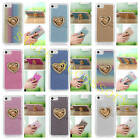 Luxury Crystal Love Ring Kickstand Soft Rubber Case Cover For Various Cell Phone