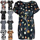 Womens Ladies Halloween Pumpkin Bat Web Baggy Cap Turn Up Sleeve Tee T Shirt Top