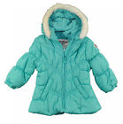 OshKosh B'gosh Infant Girls Turquoise Faux Fur Trim Coat Size 12M 18M 24M $60