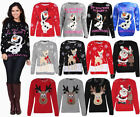 Mens Ladies Unisex Novelty Rudolph Reindeer Winter Knitted Christmas Jumper Tops