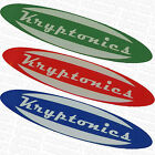 KRYPTONICS WHEELS -  Old School Skateboard Skate Stickers - Assorted Colours