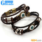 "Fashion Jewelry Turkey Evil Eye Style Leather Bracelet Gift 7"" Free Shipping"