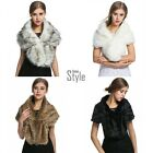 Ladies Women's Faux Fur Collar Scarf Fluffy Winter Shawl Wrap Stole Scarfs New
