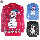 Womens Ladies Novelty Rudolf Olaf Frozen Christmas Xmas Star Sweater Jumper Top