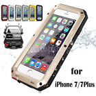 Shockproof Aluminum Waterproof Gorilla Glass Metal Case Cover For iPhone 7 7Plus