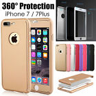 Hybrid 360° Shockproof Case+Tempered Glass Cover For Apple iPhone 7/7 Plus Model