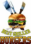 Best Grilled Burgers DECAL (Choose Your Size) Food Sign Restaurant Vinyl