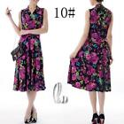 AU SELLER 50'S Vintage Sexy Floral  V-Neck Sleeveless Dress dr141-10