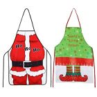 Christmas Santa Claus Mr Mrs Apron Bib Creative Decoration Kitchen Bar Chef Gift