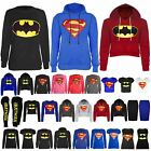 Womens Ladies Superman Batman Cap Long Sleeves T Shirt Sweatshirt Hoodies Tops