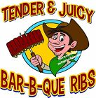 Bar-B-Que Ribs DECAL (CHOOSE YOUR SIZE) BBQ Food Sign Restaurant Vinyl