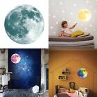 Non-toxic Noctilucent Decals Luminous Moon Wall Stickers Home Decor DIY Room