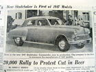 1946 newspaper w preview & photo of The new 1947 STUDEBAKER automobile COMMANDER