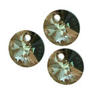 Swarovski Crystal, #6428 Xilion Round Pendants 6mm, 12 Pcs, Crystal Bronze Shade