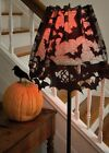 7095B-LS USA Lace~Going Batty Bat Halloween Lamp Shade-Mantle Topper-Scarf-Swag