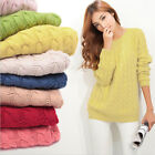 Fashion  Women Long Sleeve Knit Sweater Loose Casual Pullover Knitwear Tops New
